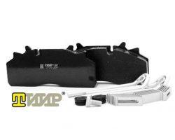 Колодки дискового тормоза АО «ТИИР» для большегрузных коммерческих автомобилей