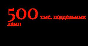 500 тыс. поддельных ламп конфисковано