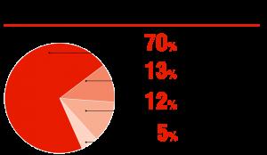 Виды автомобильных охранных устройств на российском рынке, %