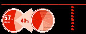 Распространённые бренды тормозных колодок на российском рынке, %