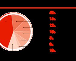 Потребительская структура рынка автомобильной светотехники, %